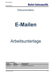 E-Mailen - Babé-Informatik Home