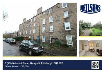 3 (3f1) Salmond Place, Abbeyhill, Edinburgh, EH7 5ST Offers Around