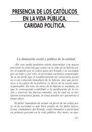 presencia de los católicos en la vida pública ... - Cáritas Española
