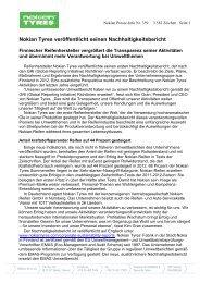 Nokian Tyres veröffentlicht seinen Nachhaltigkeitsbericht