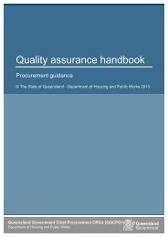 4 The Queensland Government's Quality Assurance Policy