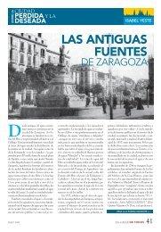 LAS ANTIGUAS FUENTES DE ZARAGOZA. Por Isabel Yeste