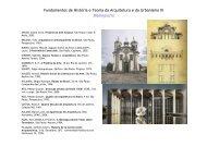 Fundamentos de História e Teoria da Arquitetura e do Urbanismo III ...