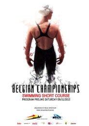 Program saterday - Belgische Kampioenschappen Korte Baan 2012