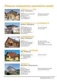 Přehled ukázkových rodinných domů - Liapor