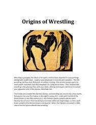 Origins Of Wrestling Revised - The Loomis Chaffee School