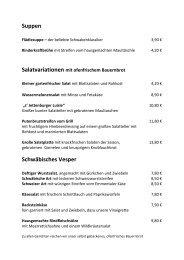 Hauptkarte als PDF herunterladen - Gasthof Kompf in Jettenburg