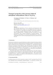 Transport properties of the pressure-induced amorphous ...