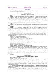 Resmî Gazete - Bilecik Aile ve Sosyal Politikalar İl Müdürlüğü