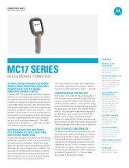 MC17 Series Retail Mobile Computer - Motorola Solutions