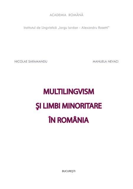 MULTILINGVISM ŞI LIMBI MINORITARE ÎN ROMÂNIA - Poliglotti 4