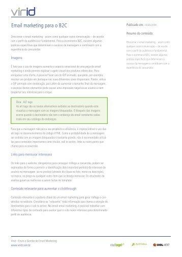 Email marketing para o B2C - Blog de Email Marketing - Virtual Target