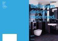 Bathroom design redefined. Geberit Monolith sanitary modules