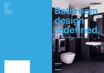 Bathroom design redefined. Geberit Monolith sanitary modules