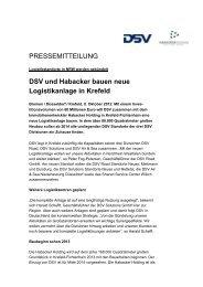 DSV und Habacker bauen neue Logistikanlage ... - IDS Logistik GmbH