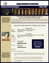 Education Services 2009 Winter Newsletter - Nevada Department of ...