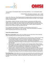 Download Exhibit Description (PDF) - OMSI