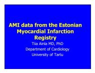 AMI data from the Estonian Myocardial Infarction Registry
