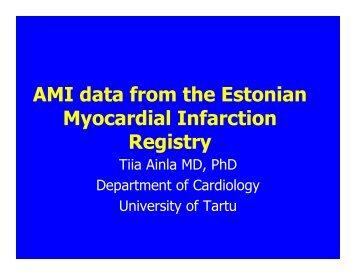 AMI data from the Estonian Myocardial Infarction Registry