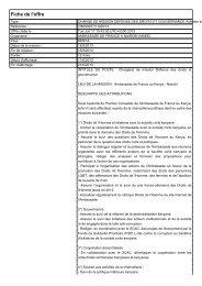 Fiche de l'offre - Ambassade de France au Kenya