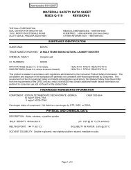 Material Safety Data Sheet (MSDS) (PDF) - OMSI