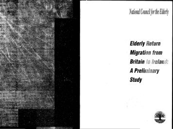 Elderly Return Migration from Britain to Ireland: A Preliminary Study
