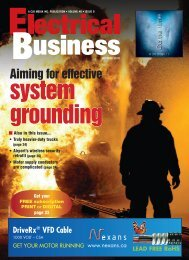 Aiming for effective - Electrical Business Magazine
