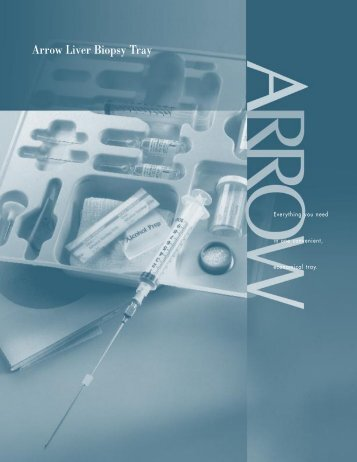 Arrow Liver Biopsy Tray
