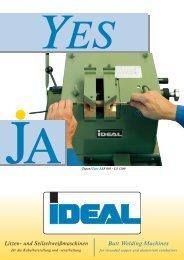 YES Litzen- und  Seilschweißmaschinen - IDEAL-Werk C. + E ...
