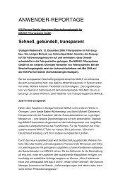 Schnell, gebündelt, transparent - IDS Logistik GmbH