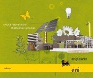 Brochure Attività Fotovoltaiche - Enipower
