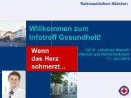 Wenn das Herz schmerzt... - Rotkreuzklinikum München