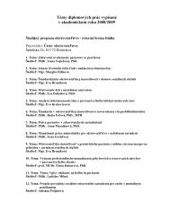 Témy diplomových prác vypísané v akademickom roku 2008/2009