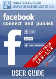 Facebook Connect and Publish - BelVG Magento Extensions Store