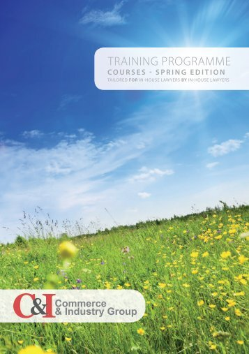 TRAINING PROGRAMME - C&I Group