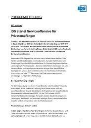 IDS startet Serviceoffensive für Privatempfänger - IDS Logistik GmbH