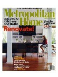 Metropolitan Home - April 2006 - Interior Design Seattle