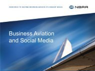 Business Aviation and Social Media - NBAA