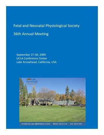 FNPS Lake Arrowhead 2009 (pdf) - Fetal and Neonatal ...