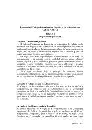 Estatutos del Colegio Profesional de Ingeniería en Informática de ...