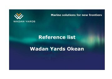 Reference list Wadan Yards Okean - Dredgepoint