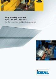 Strip Welding Machines Type LBS 043 - IDEAL-Werk C. + E ...