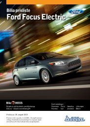 Prisliste Ford Focus Electric. - Bilia