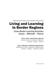 Living and Learning in Border Regions