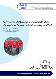 Schweizer Mathematik-Olympiade SMO Olympiades Suisses de ...