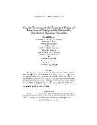 On the Extrema of the Expected Values of Functions of Independent ...