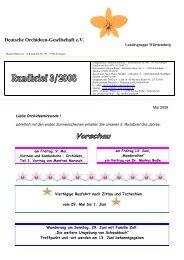 Deutsche Orchideen-Gesellschaft e.V. - DOG Landesgruppe ...