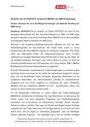 Neuheiten auf der POWTECH: Geräteserie MBA800 ... - SMB Group