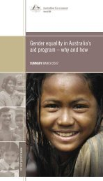 Gender equality in Australia's aid program – why and how - AusAID