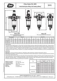 Filtry Ratio FR, DFR mechaniczne filtry do wody pitnej - Hydraulika